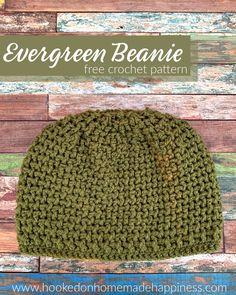 Crochet Adult Hat, Easy Crochet Hat, Crochet Beanie Pattern, Crochet Crafts, Free Crochet, Crochet Baby, Modern Crochet Patterns, Crochet Patterns For Beginners, Crochet Designs