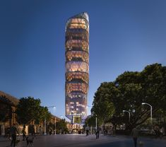 The World's Tallest Hybrid Timber Tower is Under Construction in Sydney, Australia | ArchDaily New York Architecture, Australian Architecture, Amazing Architecture, Shop Architects, Timber Buildings, Timber Structure, Tower Design, Glass Facades, Facade Design