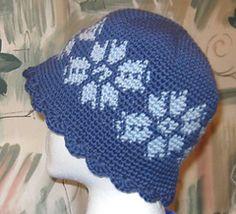 Ravelry: Tapestry Crochet Snowflake Hat pattern by Kat Mcab