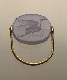 Flying Heron , 5th century B.C. Ancient Greece זה אחלה מודל של טבעת מתאים למגוון רחב יותר של מידות אצבע