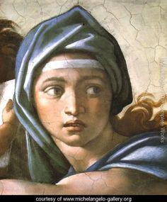 Delphic Sibyl - Michelangelo Buonarroti - www.michelangelo-gallery.org