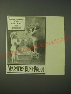 55926a7770a 1900 Warner s Rust-Proof Corsets Ad - Mamma won t care! Water can t hurt