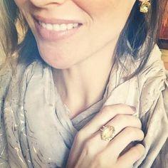 Cushion Drop Earrings: Cute Gold Earrings | Stella & Dot Order online at www.stelladot.com/sarahtaliaferro