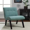 Aqua Armless Tufted Back Chair | Overstock.com Shopping - The Best Deals on Chairs