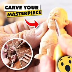 ✔ START CARVING NOW - A great beginner set of tools to start whittling. Tools are Sharp out of the box. Perfect to start a Carving hobby. Start Carving Today without breaking your bank. Awesome Woodworking Ideas, Best Woodworking Tools, Woodworking Joints, Woodworking Workshop, Woodworking Techniques, Woodworking Crafts, Woodworking Beginner, Woodworking Furniture, Wood Carving Set