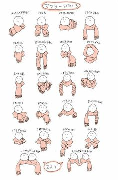 different ways of wearing a scarf