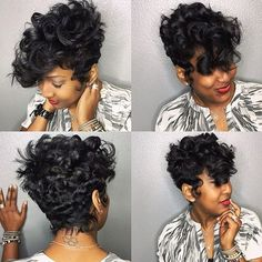 STYLIST FEATURE| Love the waves and curls on this #shortcut styled by #ArlingtonStylist @khimandi ✂️ Slayed #voiceofhair✂️========================== Go to VoiceOfHair.com ========================= Find hairstyles and hair tips! ========================= Short Hair Wigs, Cute Hairstyles For Short Hair, Dope Hairstyles, Curly Hair Styles, Natural Hair Styles, Short Sassy Hair, Black Short Haircuts, 27 Piece Hairstyles, Short Cuts