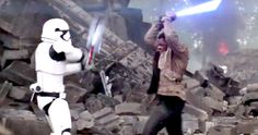 'Star Wars: The Force Awakens' TV Spot #5 Has Incredible New Footage -- Finn battles a Stormtrooper with his lightsaber as Han Solo prepares for a dangerous mission in the latest look at 'Star Wars 7'. -- http://movieweb.com/star-wars-force-awakens-tv-spot-5-new-footage/