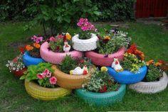 Reused Tires Garden Ideas