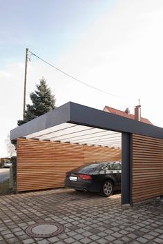 Carport modern garages & sheds by architect armin hägele modern - Carport: modern garage & shed by architect Armin Hägele There are carports made of wood, steel, co -