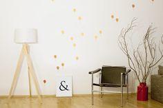 Wandsticker+::+Goldene+Ballons+::+15+Stück+von+whiterabbit+auf+DaWanda.com