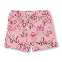 Toddler Girls Butterfly Print Woven Shorts