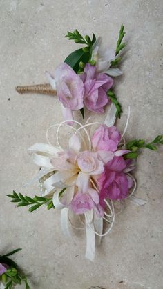Pink flower corsages for wedding and events