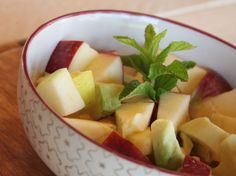 With a refreshing crunch, this apple salad is a little sweet and a little savory with avocados and herbs. Ripe Avocado, Avocado Salad, Fruit Salad, Green Apple Salad, Refreshing Desserts, Big Meals, Base Foods, Red Apple, A Food