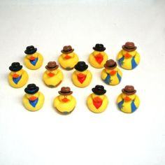Cowboy Rubber Ducks so cute for baby shower or 1st birthday!