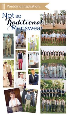 cool menswear wedding looks for the groom, groomsmen and ring bearers