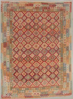 Mattor är bäst på auktion. KELIM, Uzbekistan. Ca 335 x 243 cm.