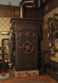 Steampunk Tendencies | Soviet Steampunk Boiler.  I would love to have a fridge or upright freezer that looks like this!