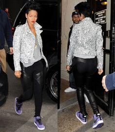 Rihanna rocks the #Nike #Blazer