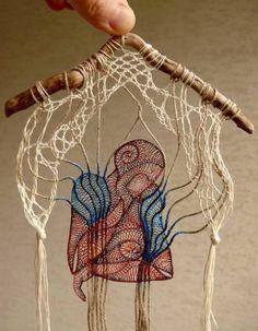 Textile art by Hungarian artist Agnes Herczeg