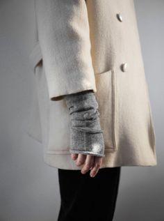 Layers - 3/4 Sleeve Coat Over Long Sleeve Sweater   LA COOL & CHIC