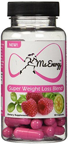 Ms Energy Super Weight Loss Blend - Pure Garcinia Cambogia Raspberry Ketones Green Coffee Bean Extract Complex Plus Premium Natural Fat Burners Formula - Lose Weight with Best Complete Weight Loss Supplements That Works Fast for Women - Extreme Diet Pills Product - 60 Capsules