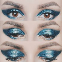 "187 Likes, 2 Comments - ∆ Casandra ∆ (@casandrasy) on Instagram: ""Electric Metal On my eyes: Nyx cosmic metals in Dark Nebula #metalic #eyes #makeup #blue #colors…"""