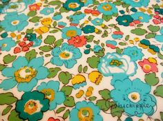 Liberty of London Laminated Tana Lawn Fabric  Green by chickippie, ¥1101
