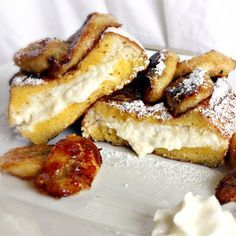 Our Eyes Eat First: Ricotta Stuffed French Toast with Caramelized Bananas