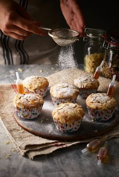Stollen and amaretto cupcakes - mmmmmmm sounds yummy! Xmas Food, Christmas Cooking, Christmas Desserts, Christmas Treats, Christmas Cakes, Christmas Mince Pies, Christmas Recipes, Cupcake Recipes, Baking Recipes