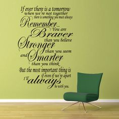 Always Remember  Wall Vinyl  Large by WallsOfText on Etsy, $21.95