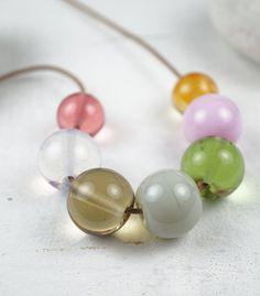 Murano Glass Jewelry | Contemporary Glass Art | Minimalistic Design |Necklace |By Melanie Moertel www.melaniemoertel.com