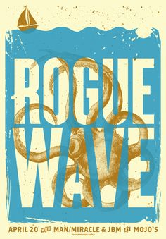 Rogue Wave gig poster by Drew Roper.