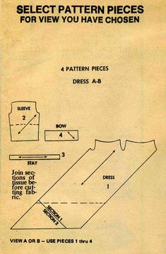 5103 Pattern Pieces