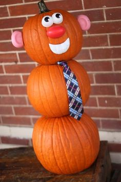 No Carve Pumpkin Decorating: Mr. Pumpkin Man-
