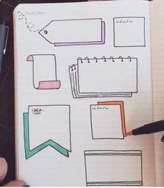 Cadres - #cadres Bullet Journal Doodles, Bullet Journal Goals, Bullet Journal Ideas Handwriting, Bullet Journal Easy, Bullet Journal Headers, Bullet Journal Writing, Bullet Journals, Bullet Journal School, Carnet Bullet Journal