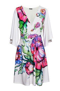 Magdalena Mini Flower 2 - sukienka mini z kwiatowym printem