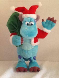 Disney Monsters Inc Sulley Holiday Christmas Santa Dancing Musical Plush
