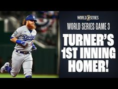 Justin Turner goes deep in 1st to put Dodgers up in World Series Game 3! - YouTube Justin Turner, Game 3, Mlb Teams, Will Turner, Los Angeles Dodgers, World Series, Deep, Baseball Cards, Sports