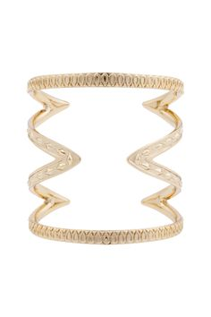 House of Harlow 1960 Gold Textured Cut Out Cuff