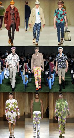 Spring 2012 Menswear from Burberry Prorsum, Givenchy and Prada are all touting PRINTS! LOVE IT.