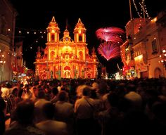 During this tour you will be taken to a local village for the Best Eve of the Festa Fireworks Display on the island.With nearly 60 festas in Malta on the annual calendar (mostly during the summer months) and nearly 20 festa events on the smaller sist Air Malta, Travel Around The World, Around The Worlds, Fireworks Festival, Malta Island, Little Island, Tourist Places, During The Summer, What Is Like
