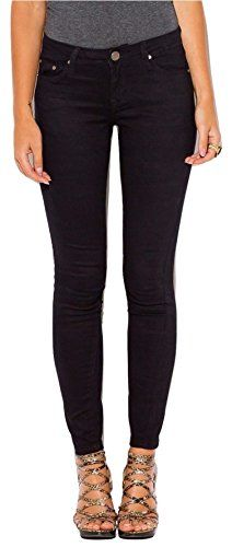 New Trending Denim: Womens Super Stretch Denim Skinny Jeans with 5 Pockets Black (M). Women's Super Stretch Denim Skinny Jeans with 5 Pockets Black (M)  Special Offer: $26.95  111 Reviews Super Soft Stretchy Juniors Skinny Jeans by QQMY They're crafted with a blend of 70% Cotton, 25% Polyester with FIVE % Spandex You'll Pair them with your Chuck...