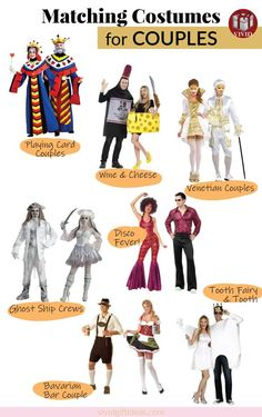 Unique Halloween Costume Ideas for Couples. A list of 7 matching costume set for couples. Tween Halloween Costumes, Cute Costumes, Couple Halloween, Costume Ideas, Best Couples Costumes, Matching Costumes, Boyfriend, Gifts, Clothes
