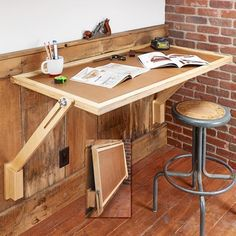Fold-Down Work Table | Woodsmith Tips #woodworkingtable #woodworkingbench #woodworkingtips
