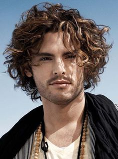 Top Quality Short Curly Full Lace Men s Wig 100% Human Hair Cheveux Long  Homme, 6175fb6fb61