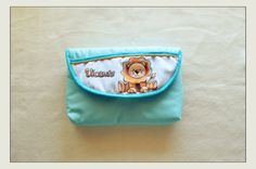 Hand painted baby document holder