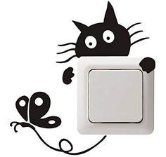 Dosige 1 Pcs Pegatinas de pared decorativas Papel pintado de habitaci/ón de ni/ños Pegatinas de pared decorativas para la cocina Fondo de pantalla de dormitorio Pegatina de pared de huella de perro Negro 58*10cm