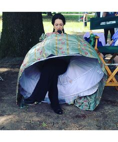 """Hannah James behind the scenes on the """"Mercy Street"""" set."""