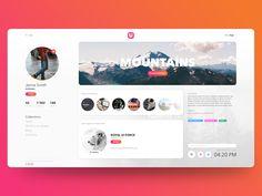 Dribbble - by Hugo Dashboard Design, App Ui Design, Web Design Trends, User Interface Design, Page Design, Dashboard Ui, Website Design Inspiration, Maquette Site Web, Profile Website